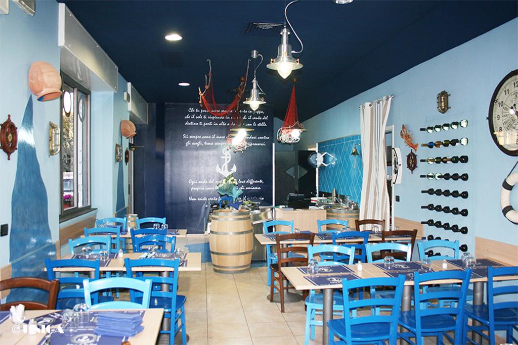 Arredamento ristorante di pesce unica arredamenti for Arredamento gratis milano